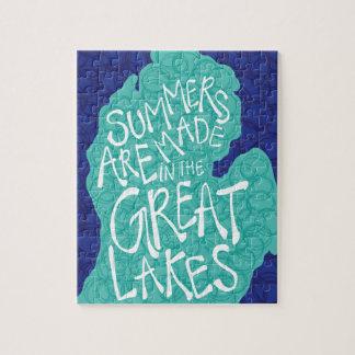 Des étés sont faits dans les Great Lakes - tablier Puzzle