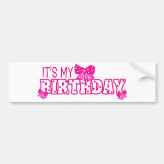 Des filles c est mon arc de rose d anniversaire adhésif pour voiture