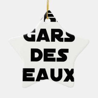 Des Gars des Eaux - Jeux de Mots - Francois Ville Ornement Étoile En Céramique