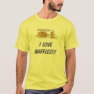 des gaufres, J'AIME DES GAUFRES ! ! ! T-shirt