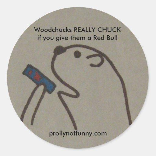 Des marmottes d'Amérique VRAIMENT CHUCKif vous leu Autocollants