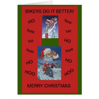 Des motards de carte de Noël de moto il améliorent