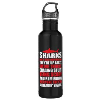 Des mots de motivation - soyez un requin bouteille d'eau