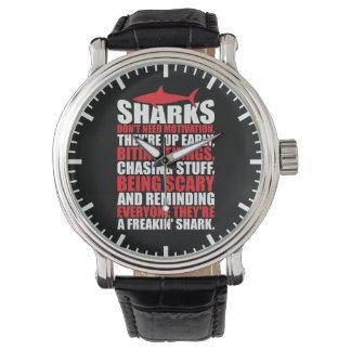 Des mots de motivation - soyez un requin montres cadran