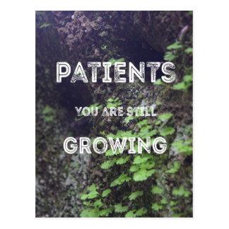 Des patients vous élevez toujours la carte postale
