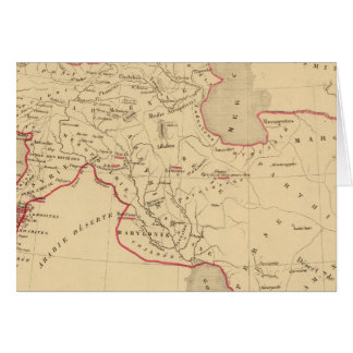 DES Perses de L'Empire Carte De Vœux