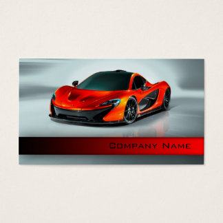 Des véhicules à moteur/emballage/coureur rouge cartes de visite