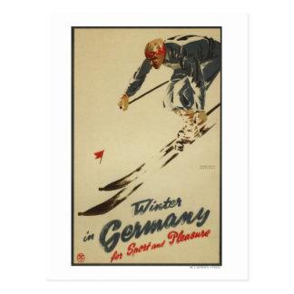 Descendeur - promo de sport et de plaisir cartes postales