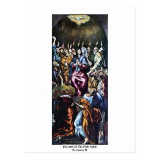Descente du Saint-Esprit par EL de Greco Cartes Postales