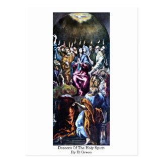 Descente du Saint-Esprit par El Greco Cartes Postales