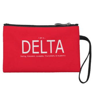 Description de delta - bracelet rouge sac à main avec anse