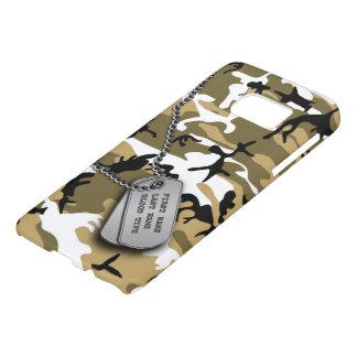 Désert Camo avec des étiquettes de chien Coque Samsung Galaxy S7
