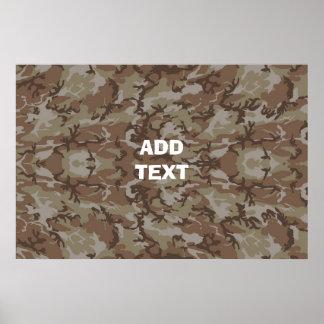 Désert de camouflage poster
