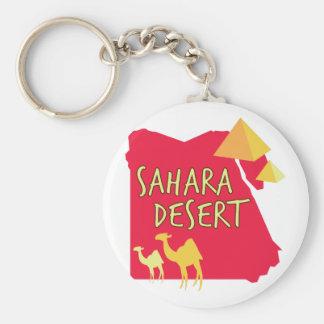 Désert du Sahara Porte-clé Rond