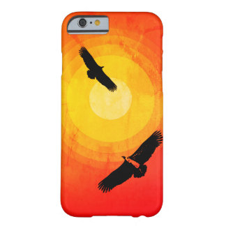 Désert entourant Sun de vautours Coque iPhone 6 Barely There