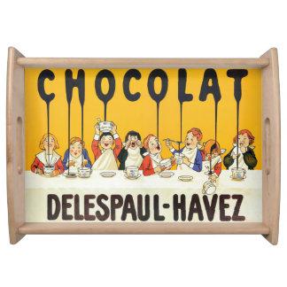 Désert français vintage de chocolat de plateau de
