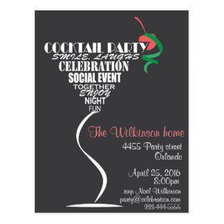 Design de carte d'invitation de cocktail