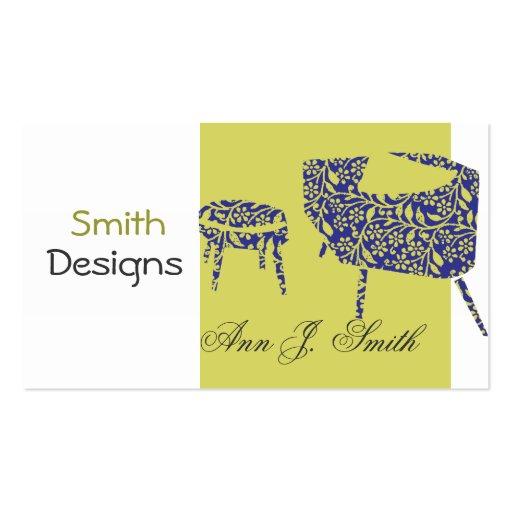 design d 39 int rieur moderne promotionnel vert carte de On carte visite design d interieur