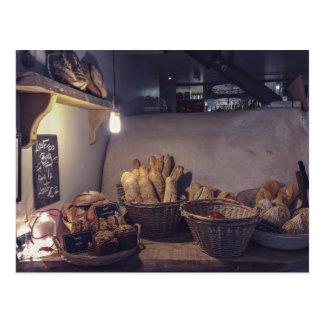 Design d'intérieur vintage de boulangerie et de carte postale