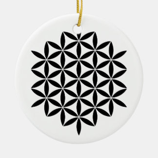 Design fractal ornement rond en céramique