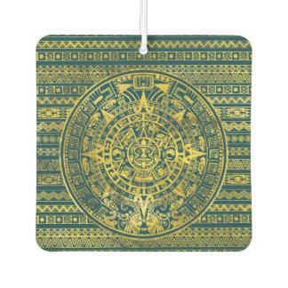 Désodorisant Pour Voiture Calendrier maya d'Inca aztèque d'or