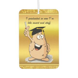 Désodorisant Pour Voiture Caractère de pomme de terre d'obtention du diplôme