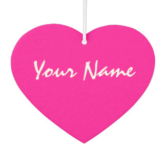 Désodorisant Pour Voiture Coeur rose personnalisable