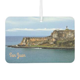 Désodorisant Pour Voiture EL Morro gardant l'entrée de baie de San Juan