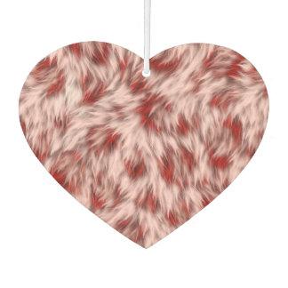 Désodorisant Pour Voiture Faux motif rose et rouge de fourrure de léopard
