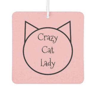 Désodorisant Pour Voiture Madame folle de chat