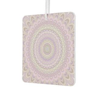 Désodorisant Pour Voiture Mandala floral en pastel de cercle