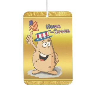 Désodorisant Pour Voiture Pomme de terre patriotique avec le casquette
