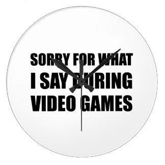 Désolé dites les jeux vidéo grande horloge ronde