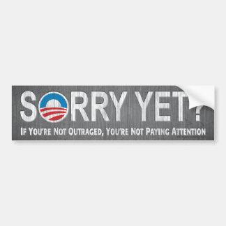 Désolé encore ? Anti adhésif pour pare-chocs d'Oba Autocollant De Voiture