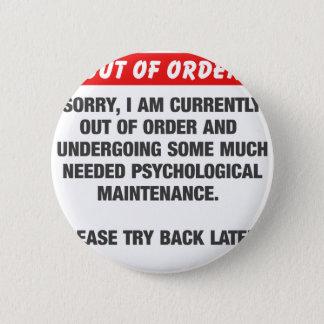 Désolé je suis actuellement en panne badge