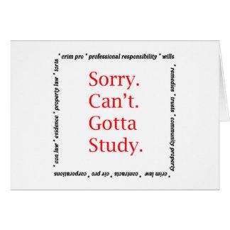 Désolé, ne pouvez pas… obtenu d'étudier cartes
