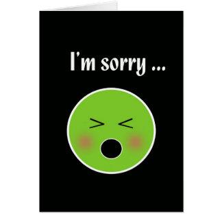 Désolé pour le vomissement--carte humoristique carte de vœux