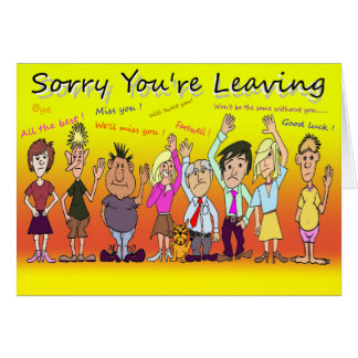 Désolé vous laissez la bande dessinée carte de vœux