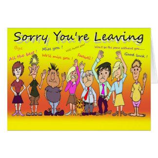 Désolé vous laissez la bande dessinée cartes