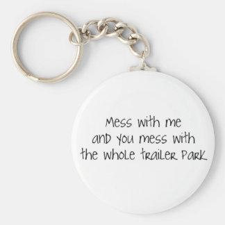 Désordre avec moi porte-clé rond