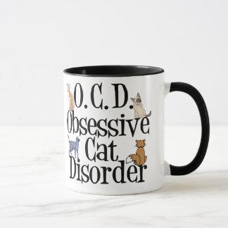 Désordre obsédant de chat mugs