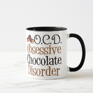 Désordre obsédant de chocolat mugs