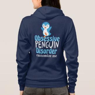 Désordre obsédant de pingouin mignon veste à capuche
