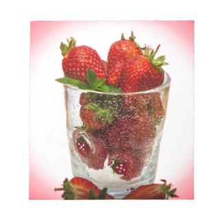 Dessert de fraise bloc-note
