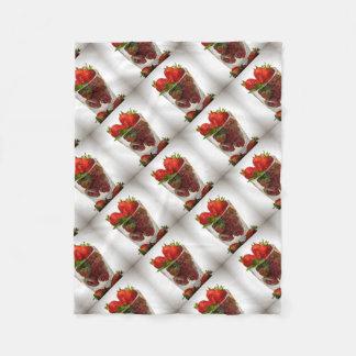 Dessert de fraise couverture polaire