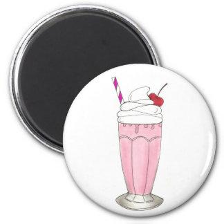 Dessert rose de milkshake de secousse de crème aimant