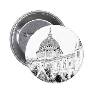 Dessin à l'encre de la cathédrale de St Paul Badge
