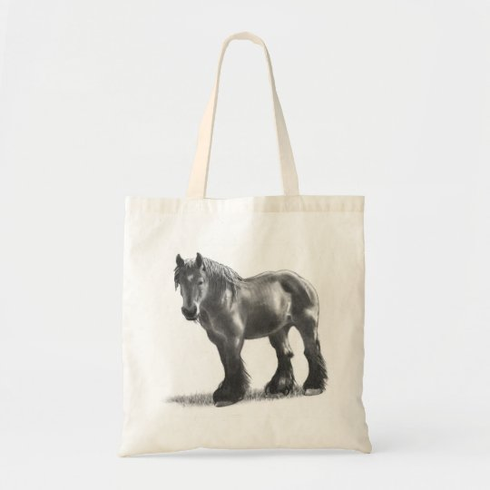 Dessin au crayon belge de cheval de trait r alis sac - Dessin cheval de trait ...
