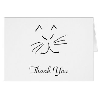Dessin au trait d'un carte de remerciements de