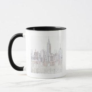 Dessin au trait Empire State Building Mug